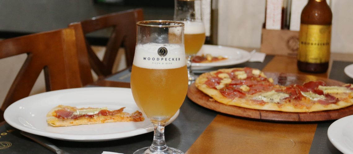 woodpecker pizza and beer